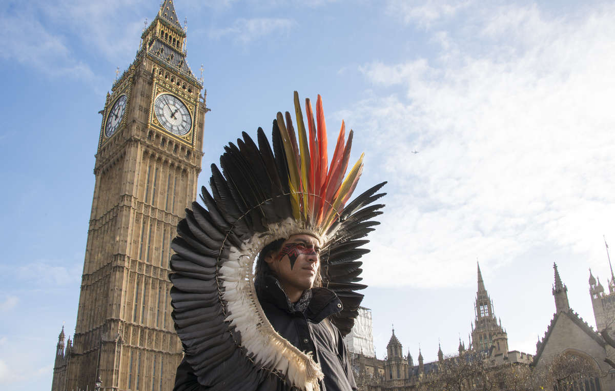 Nixiwaka Yawanawá, an Amazon Indian in London, has described London as a city rich in history and filled with ghosts.