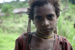 A Korowai woman in West Papua, occupied by Indonesia since 1963.