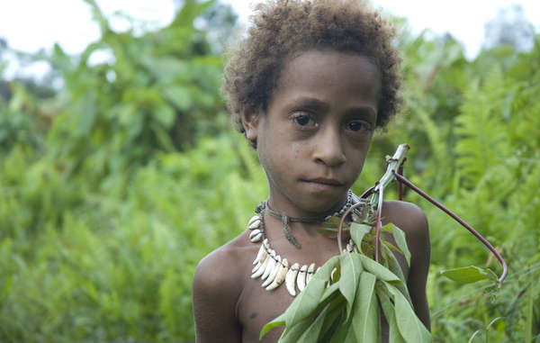 A Korowai girl in West Papua, which has been occupied by Indonesia since 1963