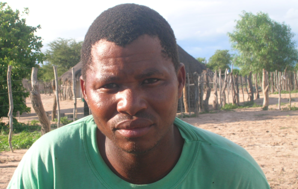 Mogolodi Moeti was attacked by paramilitary police 'as an example to others' defending the Bushmen's rights, Botswana.