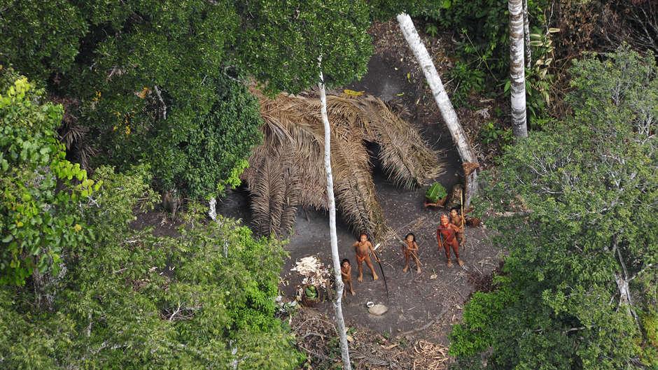 Um grupo de cerca de 10 indígenas isolados fez contato com uma comunidade indígena no estado do Acre.