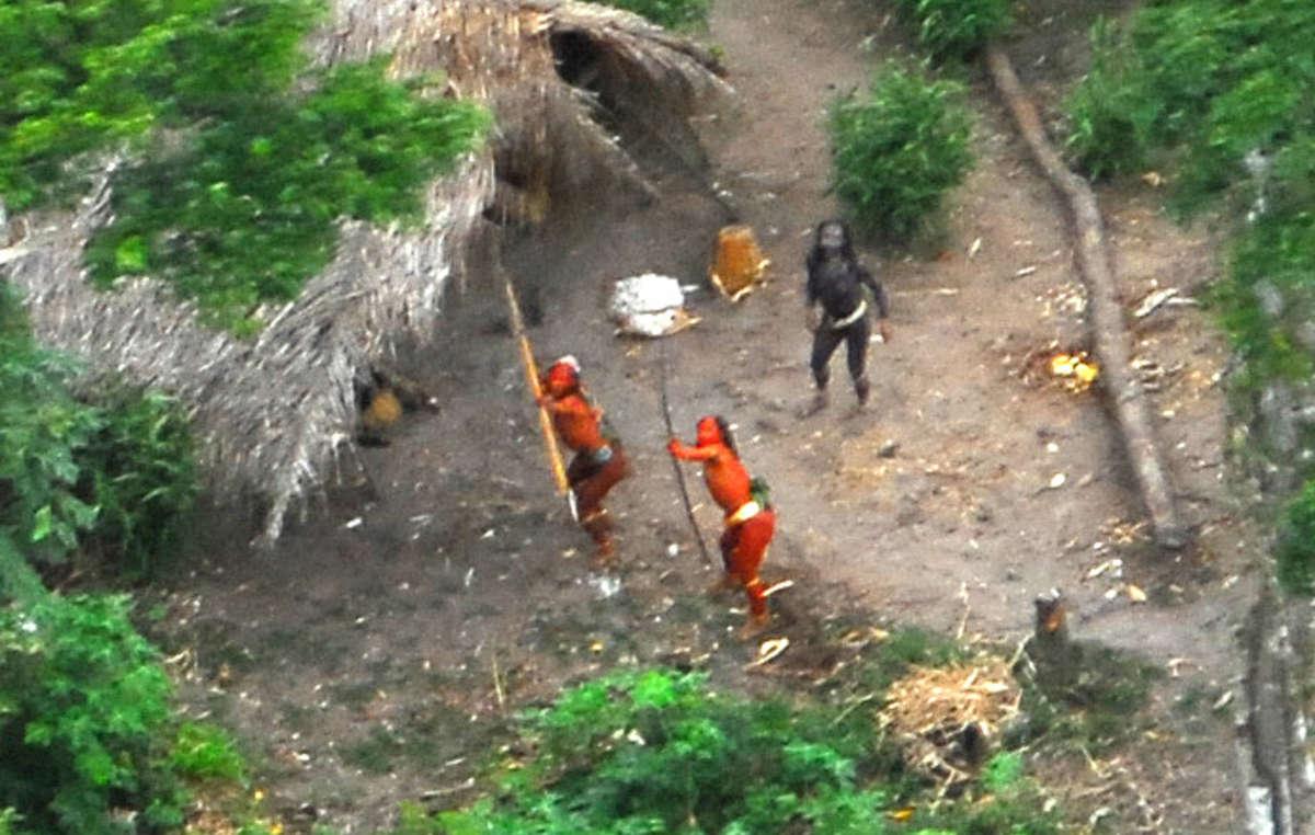 Les Indiens isolés de part et dautres de la frontière Pérou-Brésil sont menacés par la déforestation illégale.