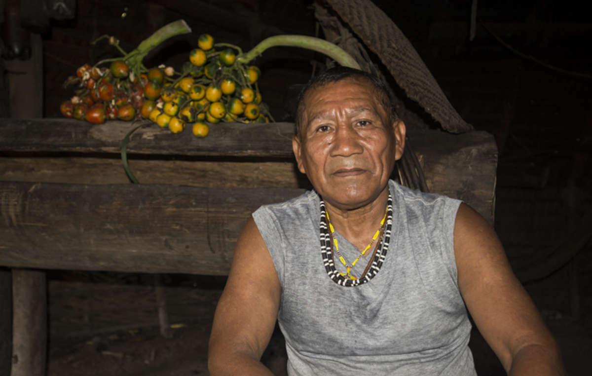 Ein Marubo-Mann aus dem Javari-Reservat.