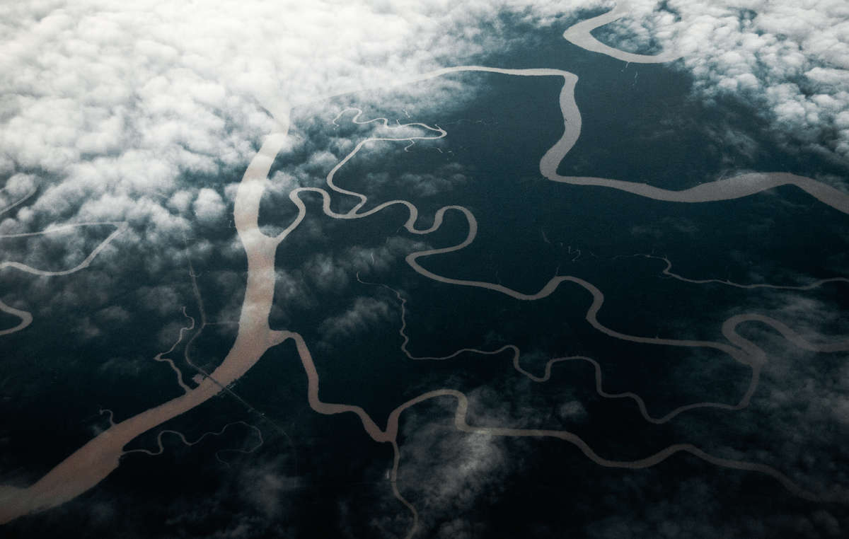 Aerial view of the Sarawak rainforest, Malaysia