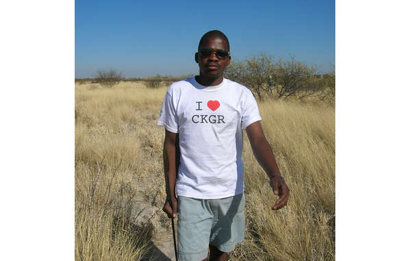 Jumanda Gakelebone, a Bushman from the Central Kalahari, is appealing to Prince Charles to help save the Bushmen.
