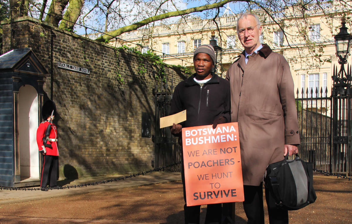 Gakelebone had to travel 5,000 miles to meet the Bushmens lawyer Gordon Bennett, who has been banned from Botswana.