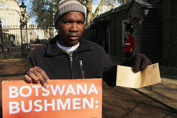 """""""Gakelebone sent a letter from the Bushman organization First People of the Kalahari to Prince Charles today."""""""