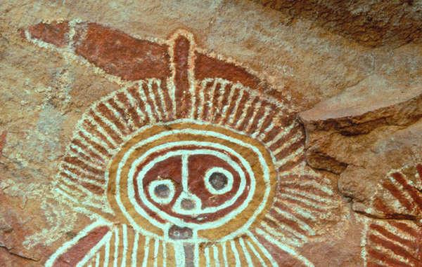Aboriginal cave art, Australia.