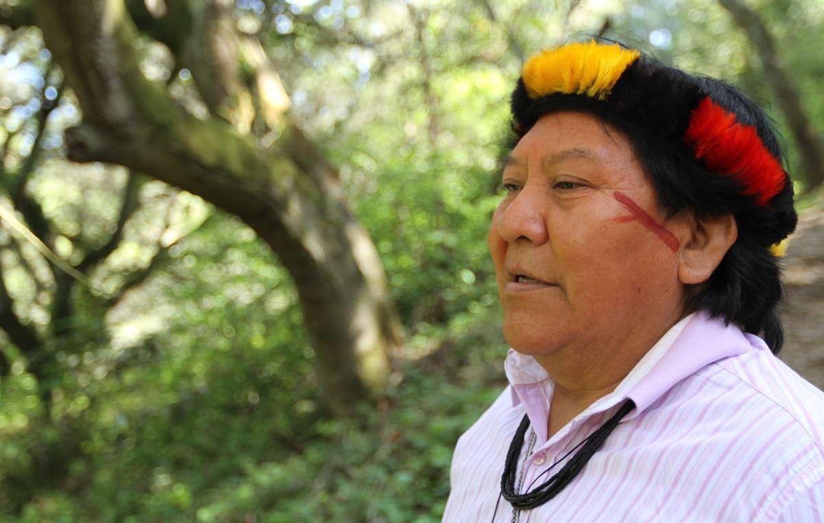 Davi Yanomami a visité la forêt de séquoias de Muir Woods en Californie ainsi que dautres sites remarquables au cours de sa visite aux Etats-Unis.