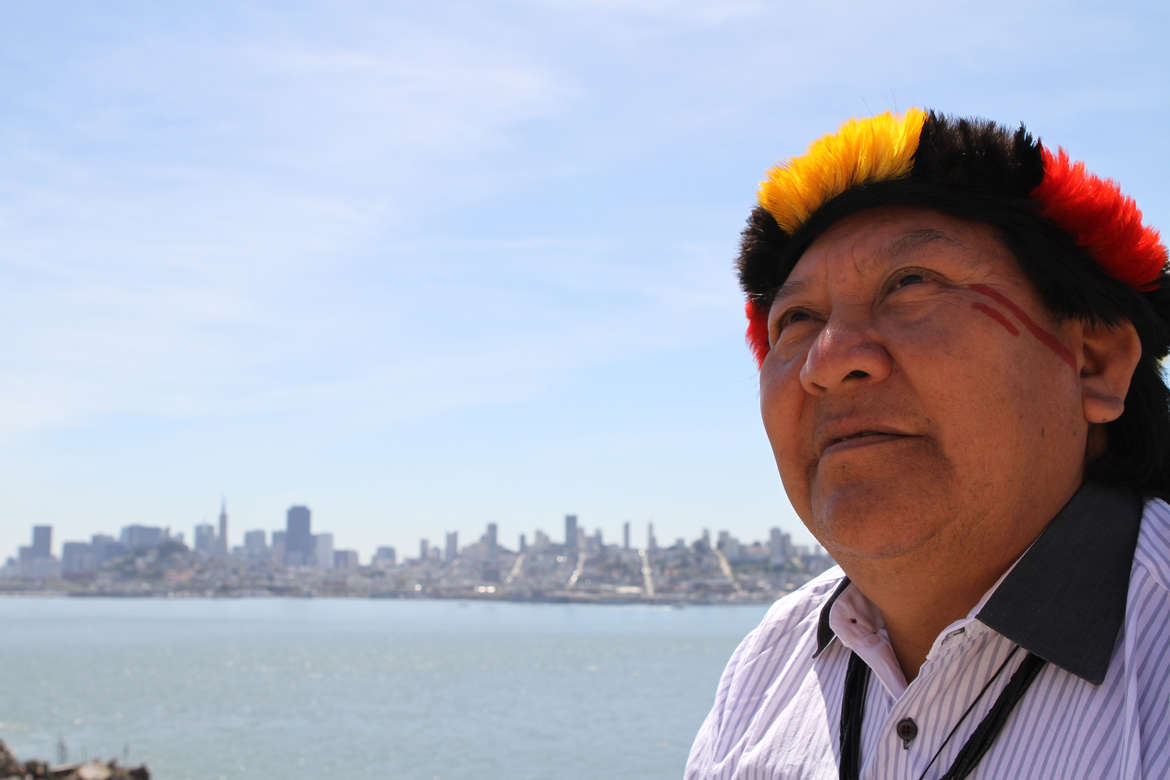 Davi Kopenawa in San Francisco