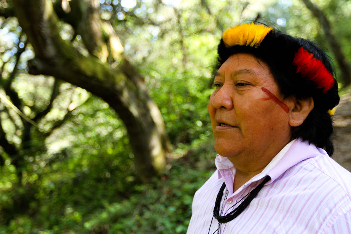 Davi Yanomami in San Francisco.