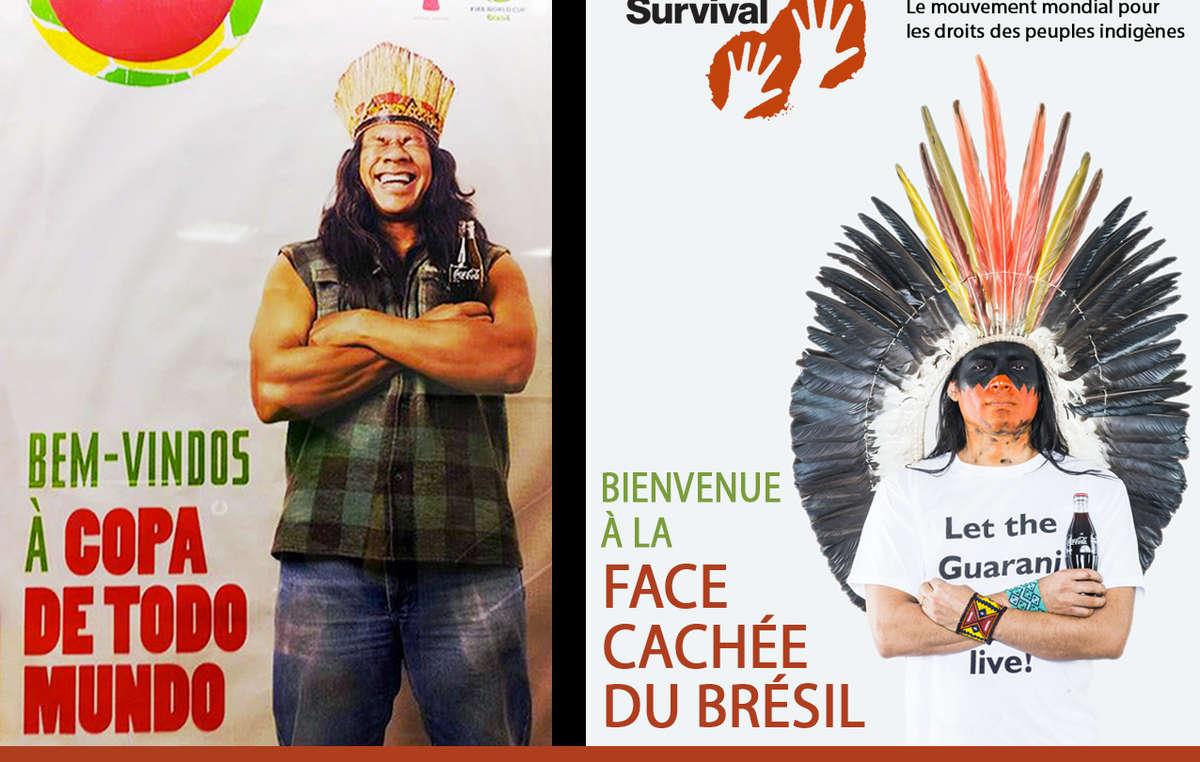 La publicité de Coca-Cola et de la FIFA a été détournée par celle dun Indien en colère exigeant : Que vivent les Guarani!