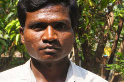 Munda man Telenga Hassa, whose village is threatened with eviction from Similipal Tiger Reserve.