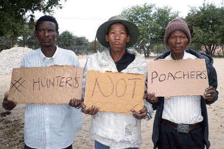 A protest from a bushman