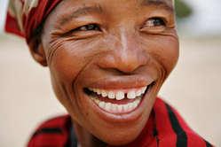Femme bushman, Botswana.