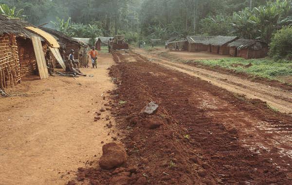 Baka e outros povos têm sido removidos forçadamente de grande parte de sua terra ancestral e têm sido forçados a viverem às margens das rodovias.