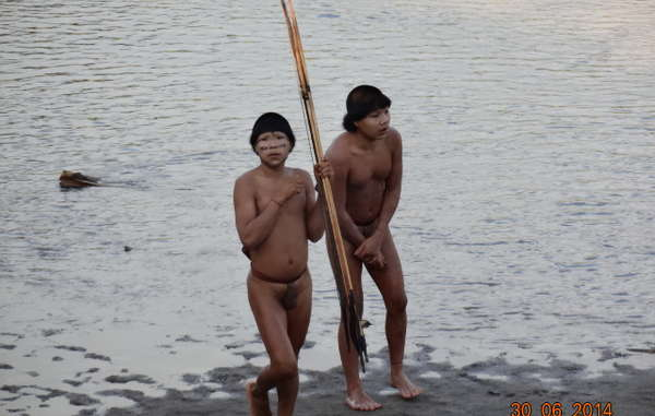 The uncontacted Indians appeared young and healthy, but reported shocking incidents of a massacre of their older relatives.