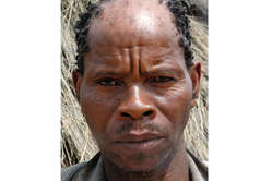 Marama Phologo, a Bushmen man who was arrested, beaten and accused of hunting, Botswana. The Bushmen rely heavily upon hunting and gathering to feed their families.
