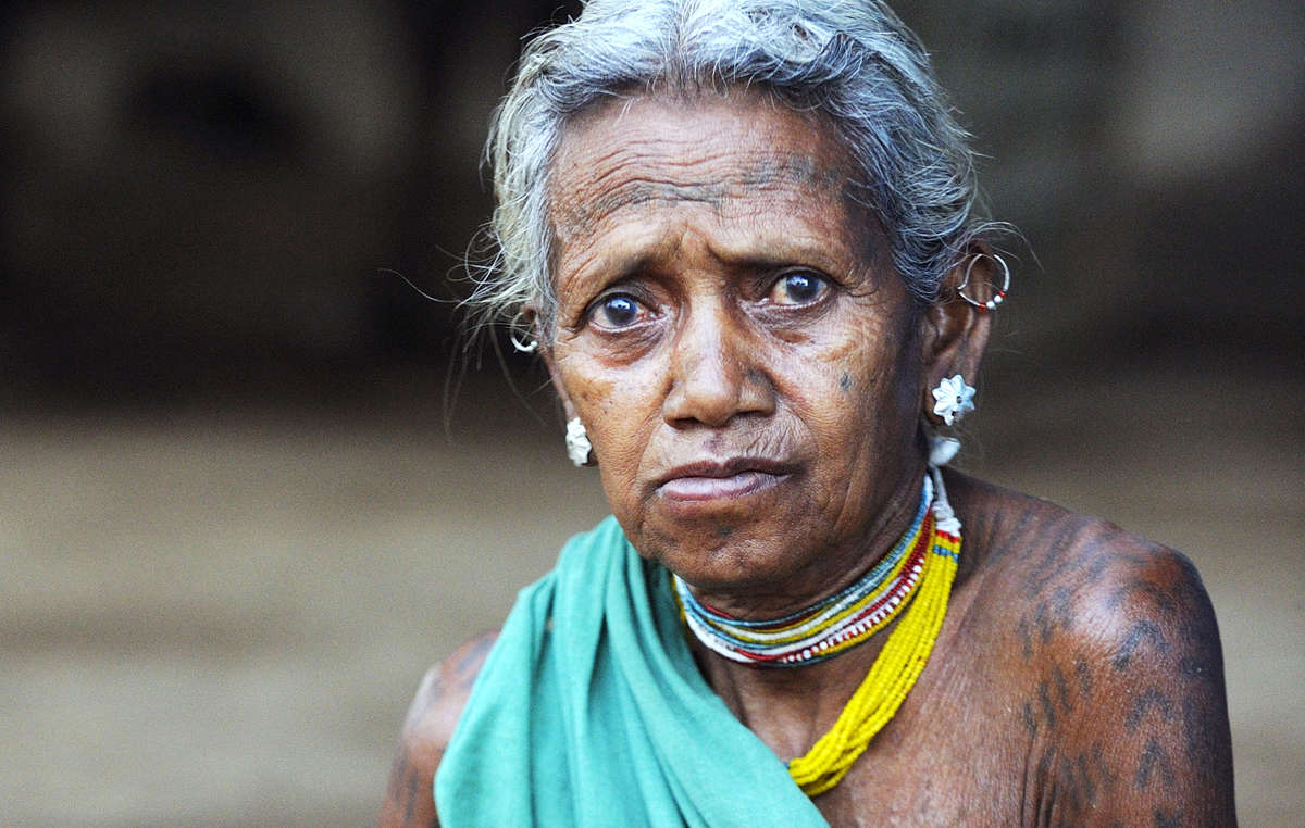 Baiga woman from Kanha Tiger Reserve, India 2013.
