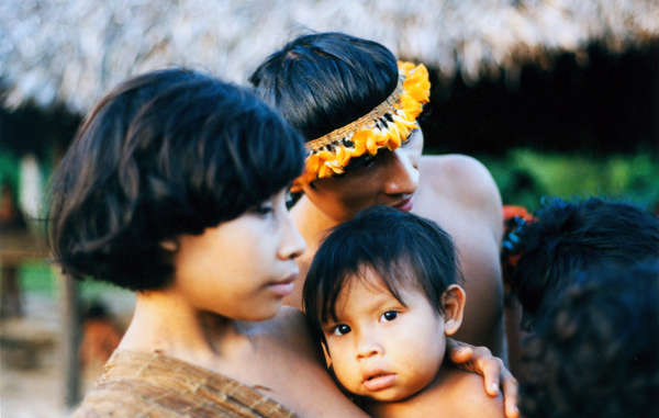 Awa mother and child, Brazil.