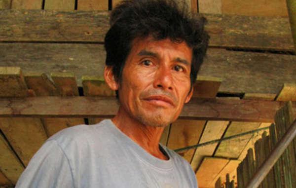 Asháninka-Anführer Edwin Chota wurde am 1. September 2014 ermordet, mutmaßlich von illegalen Holzfällern.