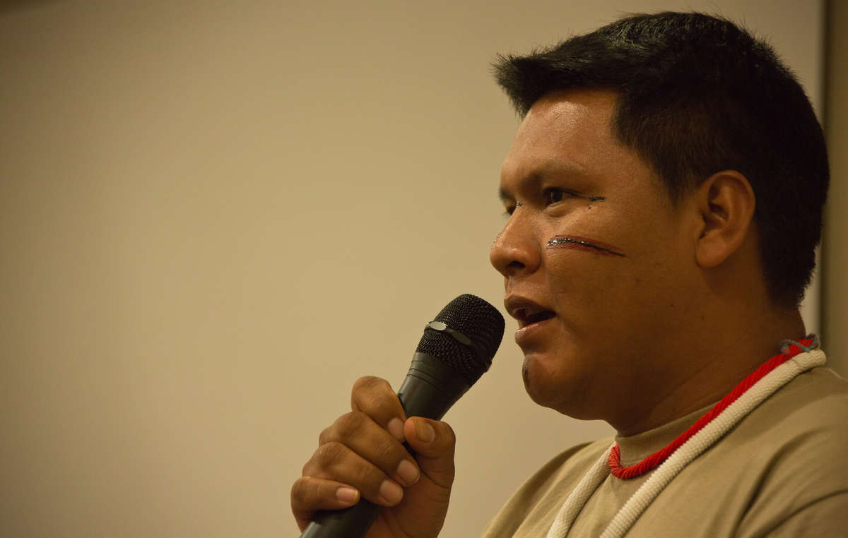Mauricio Yekuana joined Davi Yanomami in warning of the grave dangers of illegal mining on indigenous land.