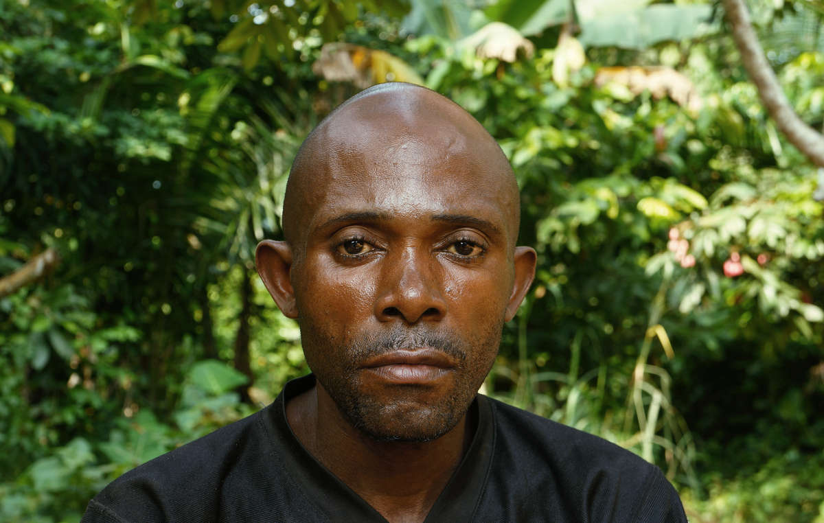 This Baka man from Ndongo village reported that he was severely beaten by anti-poaching squads on two occasions. His neighbors have appealed to WWF to stop funding such abuses.