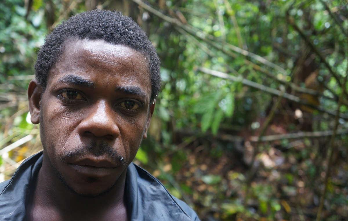 'They beat us at the WWF base. I nearly died.' Baka 'Pygmy,' Cameroon.