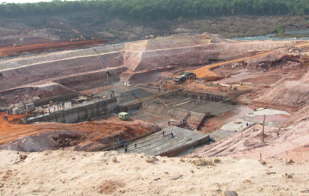 Telegráfica Damm ist einer der Staudämme, der am Juruena-Fluss entstehen soll.