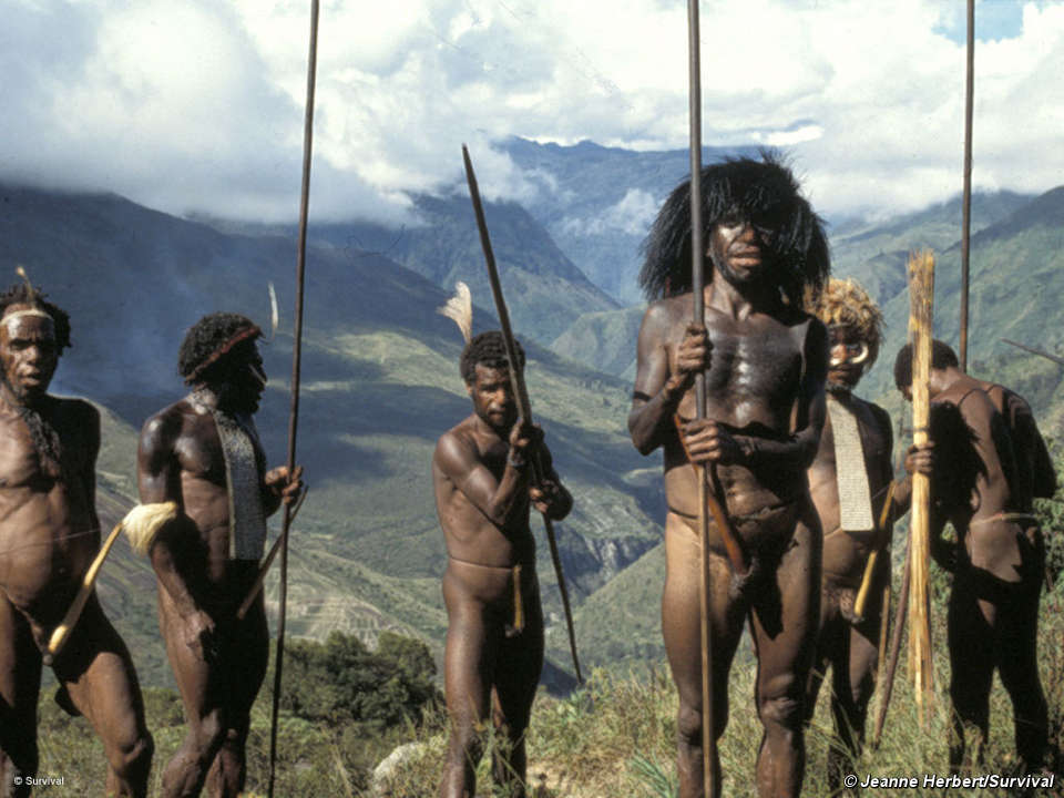 men West papua indonesia